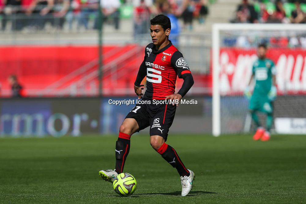 Benjamin ANDRE - 12.04.2015 - Rennes / Guingamp - 32eme journee de Ligue 1 <br /> Photo : Vincent Michel / Icon Sport