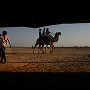 Bedouins men are riding horses while children from different tribes are gathering together during the Bedouin wedding of Beyr Mathkour who belongs to the Sidiyyin tribe. Little is known by those who led the Swiss explorer Johann Burckhardt to the Nabataean city's discovery to the outside world.
