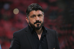 March 2, 2019 - Milan, Milan, Italy - head coach of AC Milan Gennaro Gattuso during the serie A match between AC Milan and US Sassuolo at Stadio Giuseppe Meazza on March 02, 2019 in Milan, Italy. (Credit Image: © Giuseppe Cottini/NurPhoto via ZUMA Press)
