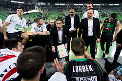 Aleksandar Saso Nikitovic, coach of Petrol Olimpija during basketball match between KK Petrol Olimpija and KK Partizan NIS in Round #13 of ABA League 2018/19, on December 29, 2018 in Arena Stozice, Ljubljana, Slovenia. Photo by Vid Ponikvar / Sportida