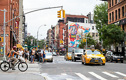 THEMENBILD - Little Italy ist ein Stadtteil in Lower Manhattan und war bekannt fuer seinen grossen Anteil an italienischer Amerikanern. Heutzutage gibt es in diesem Stadtetil nur noch ein paar italienische Geschaefte und Restaurants, im Bild die Broome Street, Aufgenommen am 10. August 2016 // Little Italy is a neighborhood in Lower Manhattan, once known for its large population of Italian Americans. Today the neighborhood consists of only a few Italian stores and restaurants, This pictures shows the Broome Street, New York City, United States on 2016/08/10. EXPA Pictures © 2016, PhotoCredit: EXPA/ Sebastian Pucher