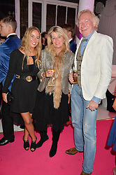 Left to right, GEORGINA ATKINSON-REID, CATHY ATKINSON-REID and GEORGE ATKINSON-REID at Light Up Your Life - a party hosted by Lillingston held at Lights of Soho, 35 Brewer Street, London on 1st October 2015.