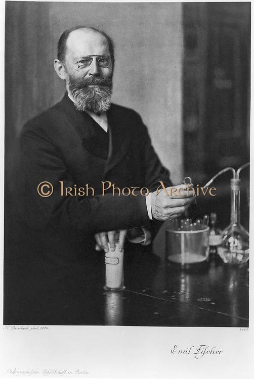 Emil Fischer (1852-1919) German chemist: Nobel prize for chemistry 1904.