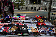 Memorabilia from the 2012 election sits in boxes on the table of a street vendor near the White House on Nov. 7, 2012 in Washington, D.C. Marco Antonio Hernandez, a vendor who runs a vending table near Pennsylvania Ave., says business has been slow, but he hopes now that Obama has won the election he can move more merchandise.