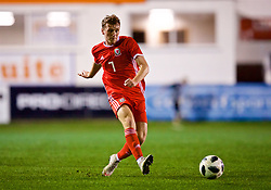 RHYL, WALES - Wednesday, November 14, 2018: Wales' Luke Jephcott during the UEFA Under-19 Championship 2019 Qualifying Group 4 match between Wales and Scotland at Belle Vue. (Pic by Paul Greenwood/Propaganda)