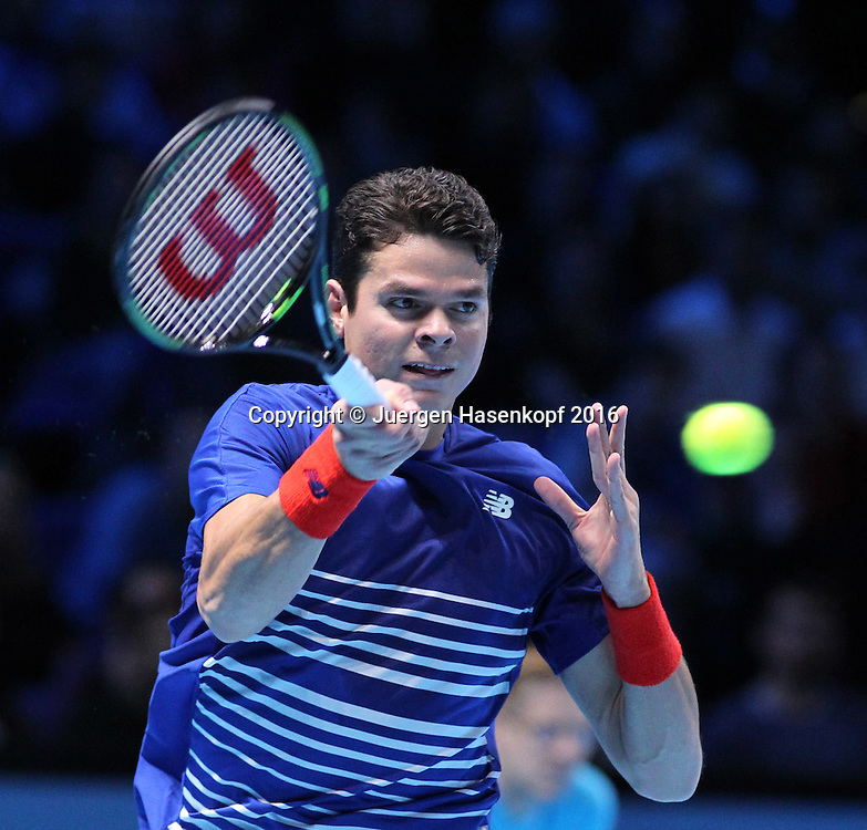 MILOS RAONIC (CAN), ATP World Tour Finals, O2 Arena, London, England.<br /> <br /> Tennis - ATP World Tour Finals 2016 - ATP -  O2 Arena - London -  - Great Britain  - 13 November 2016. <br /> &copy; Juergen Hasenkopf/Grieves