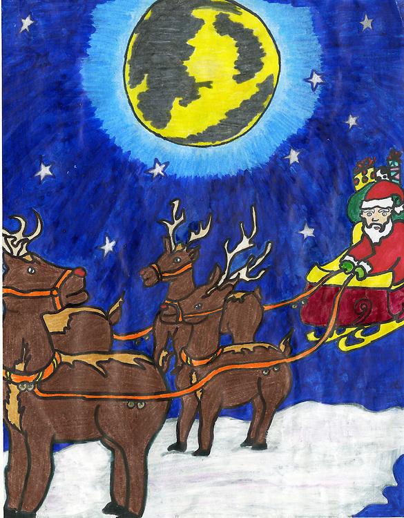 Holiday card designed by Hilda Hernandez of Waltrip High School.