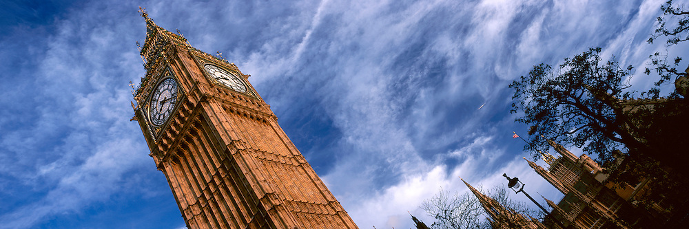 An abstract view of Big Ben - Houses of Parliament, London