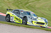 #46 Adrian Barwick/Bradley Ellis - Twisted Team Parker, Ginetta G55 GT4 during qualifiying seaaion one for the Avon Tyers British GT Championship at Oulton Park, Little Budworth, Cheshire, United Kingdom. April 19 2014. World Copyright Peter Taylor/PSP. Copy of publication required for printed pictures.  Every used picture is fee-liable. http://archive.petertaylor-photographic.co.uk