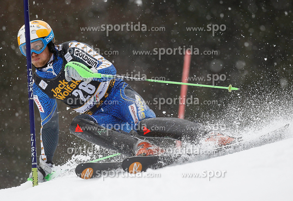 10.03.2013, Podkoren 3, Kranjska Gora, SLO, FIS Weltcup Ski Alpin, Herren, Salom, 1. Durchgang, im Bild Axel Baeck (SWE) // Axel Baeck of (SWE) during mens Slalom 1st run of FIS Ski Alpine World Cup at Podkoren 3 course in Kranjska Gora, Slovenia on 2013/03/10. EXPA Pictures © 2013, PhotoCredit: EXPA/ Oskar Hoeher..