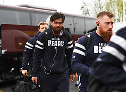 Steve Luatua of Bristol Bears (centre) arrives at Kingston Park - Mandatory by-line: Richard Lee/JMP - 18/05/2019 - RUGBY - Kingston Park Stadium - Newcastle upon Tyne, England - Newcastle Falcons v Bristol Bears - Gallagher Premiership Rugby