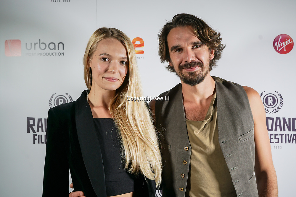 London, England, UK. 28th September 2017. Edward Akrout actor of Trendy and wife attend Raindance Film Festival Screening at Vue Leicester Square, London, UK.