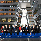 Meeting of NATO 2017 - Official portrait in the Agora