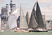 The start of the Round North Island race from the Devonport start line in the Waitamata harbour, Auckland. 8/2/2013