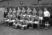 Irish Rugby Football Union, Ireland v Wales, Five Nations, Landsdowne Road, Dublin, Ireland, Saturday 9th March, 1968,.9.3.1968, 3.9.1968,..Referee- M H Titcomb, Rugby Football Union, ..Score- Ireland 9 - 6 Wales, ..Irish Team, ..T J Kiernan,  Wearing number 15 Irish jersey, Captain of the Irish team, Full Back, Cork Constitution Rugby Football Club, Cork, Ireland,..A T A Duggan, Wearing number 14 Irish jersey, Right Wing, Landsdowne Rugby Football Club, Dublin, Ireland,..B A P O'Brien, Wearing number 13 Irish jersey, Right Centre, Shannon Rugby Football Club, Limerick, Ireland,..F P K Bresnihan, Wearing number 12 Irish jersey, Left Centre, University College Dublin Rugby Football Club, Dublin, Ireland, ..J C M Moroney, Wearing number 11 Irish jersey, Left Wing, London Irish Rugby Football Club, Surrey, England, ..C M H Gibson, Wearing number 10 Irish jersey, Stand Off, N.I.F.C, Rugby Football Club, Belfast, Northern Ireland, ..R M Young, Wearing number 9 Irish jersey, Scrum Half, Queens University Rugby Football Club, Belfast, Northern Ireland,..K G Goodall, Wearing number 8 Irish jersey, Forward, City of Derry Rugby Football Club, Derry, Northern Ireland,..T J Doyle, Wearing number 7 Irish jersey, Forward, Wanderers Rugby Football Club, Dublin, Ireland, ..M G Doyle, Wearing number 6 Irish jersey, Forward, Blackrock College Rugby Football Club, Dublin, Ireland, ..W J McBride, Wearing number 5 Irish jersey, Forward, Ballymena Rugby Football Club, Antrim, Northern Ireland,..M G Molloy, Wearing number 4 Irish jersey, Forward, University College Galway Rugby Football Club, Galway, Ireland,  ..P O'Callaghan, Wearing number 3 Irish jersey, Forward, Dolphin Rugby Football Club, Cork, Ireland, ..A M Brady, Wearing number 2 Irish jersey, Forward, Malone Rugby Football Club, Belfast, Northern Ireland, ..S Millar, Wearing number 1 Irish jersey, Forward, Ballymena Rugby Football Club, Antrim, Northern Ireland,.