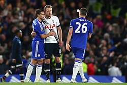 John Terry of Chelsea consolidates Harry Kane of Tottenham Hotspur at the end of the match - Mandatory byline: Jason Brown/JMP - 02/05/2016 - FOOTBALL - London, Stamford Bridge - Chelsea v Tottenham Hotspur - Barclays Premier League