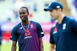 Jofra Archer of England warms up - Mandatory by-line: Robbie Stephenson/JMP - 30/06/2019 - CRICKET - Edgbaston - Birmingham, England - England v India - ICC Cricket World Cup 2019 - Group Stage