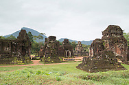 A view of Cham temple ruins in Group B and C at the My Son Sanctuary, Quang Nam Province, Vietnam, Southeast Asia
