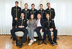 Team Slovenia during Official Draw of Davis Cup 2018 tournament between National teams of Slovenia and Poland, on February 2, 2018 in Mestna hisa - Mariborski Rotovz, Maribor, Slovenia. Photo by Rene Gomolj / Sportida