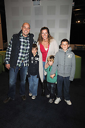 "SALLY GUNNELL and her husband JONATHAN BIGG with their children, left to right, LUCA, MARLEY and FINLEY at a VIP Opening night of Disney & Pixar's ""Finding Nemo on Ice"" at The O2 Arena Grennwich London on 23rd October 2008."