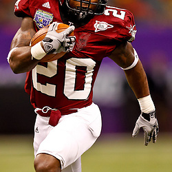 December 18, 2010; New Orleans, LA, USA; Troy Trojans running back Shawn Southward (20) against the Ohio Bobcats during the 2010 New Orleans Bowl at the Louisiana Superdome. Troy defeated Ohio 48-21. Mandatory Credit: Derick E. Hingle