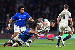 November 25, 2017 - London, England, United Kingdom - England's Courtney Lawes is tacked by Tala James Ioane of Samoa  during Old Mutual Wealth Series between England against Samoa at Twickenham stadium , London on 25 Nov 2017  (Credit Image: © Kieran Galvin/NurPhoto via ZUMA Press)