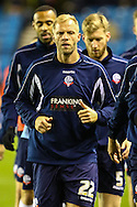 Eidur Guojohnsen of Bolton Wanderers warms up ahead of his start against Millwall before the Sky Bet Championship match at The Den, London<br /> Picture by David Horn/Focus Images Ltd +44 7545 970036<br /> 19/12/2014