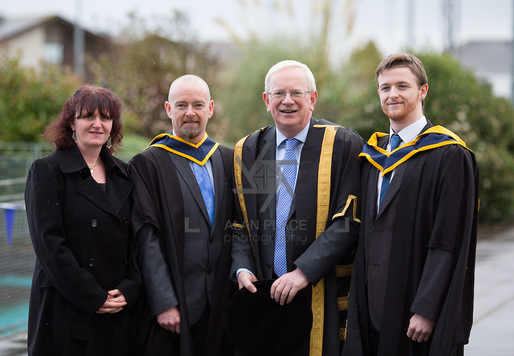 18.11.2016       <br /> Speaking at conferring ceremonies in Thurles, the President of Limerick Institute of Technology (LIT) has welcomed the publication of the Financial Review of the Institutes of Technology and called for the immediate implementation of actions to support the Technological Education sector. <br /> <br /> Attending the Conferring ceremonies at LIT Thurles campus were Prof. Vincent Cunnane, President LIT, Veronica Joy with father and son graduates, Matt and Adam Joy. Matt Conferred with a BSc (Hons) in Environmental and Natural Resource Management and Adam conferred with a MSc in Sports Strength and Conditioning. Picture: Alan Place