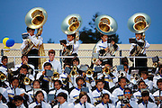 The Milpitas High School band performs before the kickoff against Woodside at Milpitas High School in Milpitas, California, on September 13, 2013. (Stan Olszewski/SOSKIphoto)