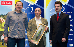 Martin Hvastija, Coach Marko Polanc and Ales Kalan during the Slovenia's Cyclist of the year award ceremony by Slovenian Cycling Federation KZS, on December 11, 2010 in Hotel Mons, Ljubljana, Slovenia. (Photo By Vid Ponikvar / Sportida.com)