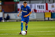 AFC Wimbledon attacker Shane McLoughlin (19) dribbling during the Pre-Season Friendly match between AFC Wimbledon and Bristol City at the Cherry Red Records Stadium, Kingston, England on 9 July 2019.