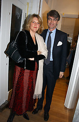 LORD & LADY MANCROFT at the opening party for Tom's Kitchen - the restaurant of Tom Aikens at 27 Cale Street, London SW3 on 1st November 2006.<br />