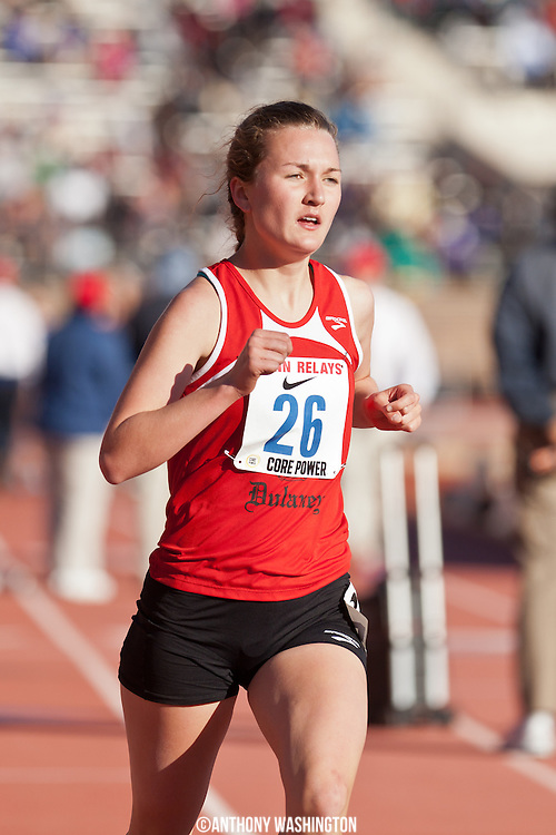 Isabel Griffith of Dulaney High School competes in the High School Girls 3000m Championship at the Penn Relays on Thursday, April 24, 2014 in Philadelphia, PA.