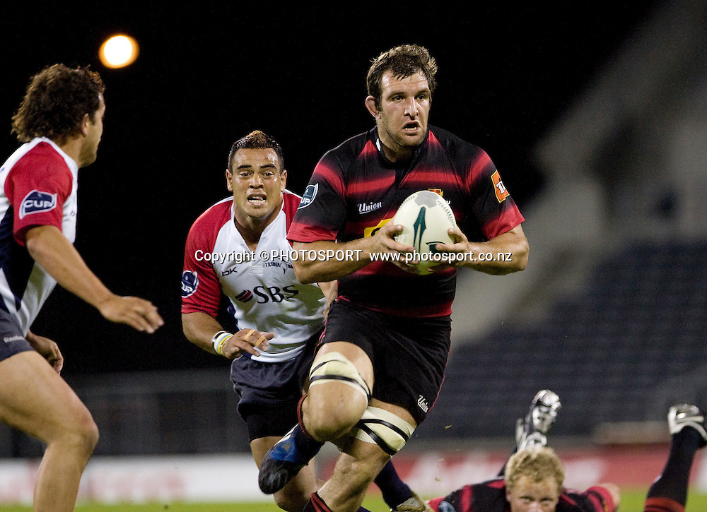 George Whitelock runs with the ball. Air NZ Cup, Quarter Final, Canterbury v Tasman, AMI Stadium, Christchurch, Friday 9 October 2008. Photo: Joseph Johnson/PHOTOSPORT