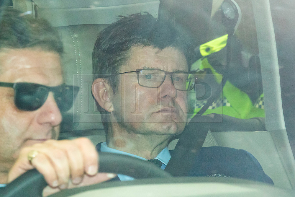 © Licensed to London News Pictures. 17/06/2019. London, UK. Secretary of State for Business, Energy and Industrial Strategy Greg Clark, who is supporting Jeremy Hunt in the Conservative Party leadership race, leaves Parliament in a car. A second round of voting on the new leader will take place tomorrow. Photo credit: Rob Pinney/LNP