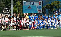 UTRECHT -  line up   voor  de finale van de play-offs om de landtitel tussen de heren van Kampong en Amsterdam (3-1). COPYRIGHT  KOEN SUYK