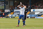 Bury Midfielder, Zeli Ismail (7) misses during the EFL Sky Bet League 1 match between Bury and Scunthorpe United at the JD Stadium, Bury, England on 1 October 2016. Photo by Mark Pollitt.