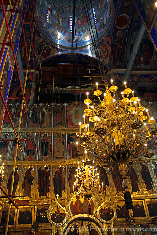 Europe, Russia, Suzdal. Cathedral of the Nativity Restoration