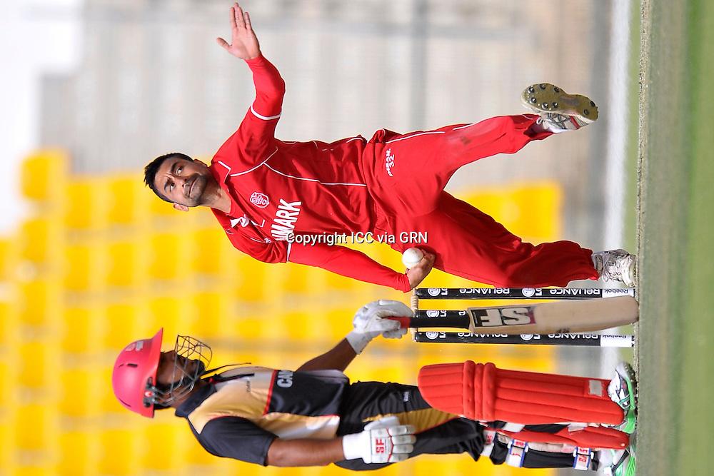 Denmark's Bobby Chawla at the ICC World Twenty20 Qualifier UAE 2012.. Pix ICC/Thusith Wijedoru