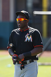 SAN FRANCISCO, CA - APRIL 24: Marcell Ozuna #13 of the Miami Marlins looks on during batting practice before the game against the San Francisco Giants at AT&T Park on April 24, 2016 in San Francisco, California.  The Miami Marlins defeated the San Francisco Giants 5-4. (Photo by Jason O. Watson/Getty Images) *** Local Caption *** Marcell Ozuna