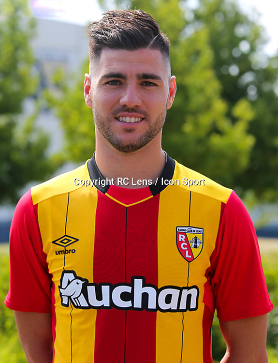 Cristian Lopez during photoshooting of RC Lens for new season 2017/2018 on October 5, 2017 in Lens, France<br /> Photo by RC Lens / Icon Sport