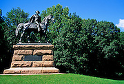 Image of Anthony Wayne statue at Valley Forge National Historical Park, Pennsylvania, American Northeast