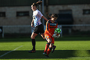 Forest Green Rovers goalkeeper Rosie Dimery(1) claims the ball during the South West Womens Premier League match between Forest Greeen Rovers Ladies and Marine Academy Plymouth LFC at Slimbridge FC, United Kingdom on 5 November 2017. Photo by Shane Healey.