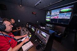 Bastidores cobertura da empresa PW durante partida da Libertadores da América entre os times Internacional e River Plate, no estádio Beira Rio. Foto: Joel Vargas / Agência Preview