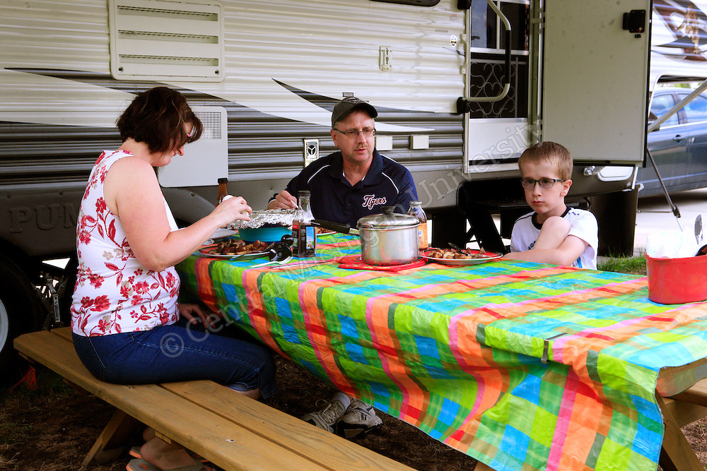 The Rhein family stayed in a camper for the 5 week Summer Specialty Clinic photo by Claire Abendroth