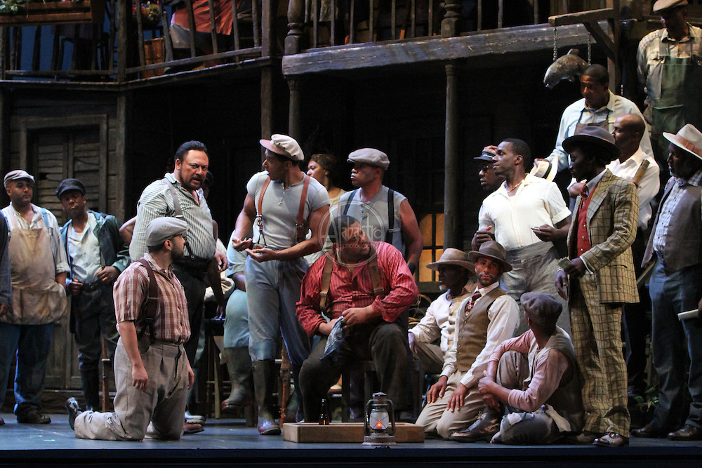 Porgy and Bess, 2011 Seattle Opera orchestra tech rehearsal.  Michael Redding as Crown.