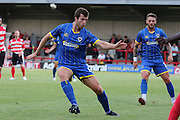 Jon Meades during the Pre-Season Friendly match between Kingstonian and AFC Wimbledon at the Cherry Red Records Stadium, Kingston, England on 30 July 2015. Photo by Stuart Butcher.