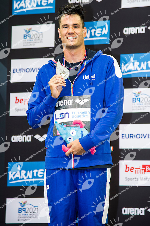D'ARRIGO Andrea ITA Silver Medal (L)<br /> 400m Freestyle Men Final<br /> 32nd LEN European Championships <br /> Berlin, Germany 2014  Aug.13 th - Aug. 24 th<br /> Day06 - Aug. 18<br /> Photo G. Scala/Deepbluemedia/Inside