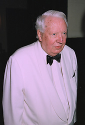 SIR EDWARD HEATH the former Prime Minister,  at a dinner in London on 2nd October 1997.MBW 25