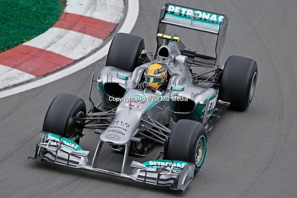 MOTORSPORT - F1 2013 - GRAND PRIX OF CANADA - MONTREAL (CAN) - 07 TO 09/06/2013 - PHOTO FRANCOIS FLAMAND / DPPI - HAMILTON LEWIS (GBR) - MERCEDES GP MGP W04 - ACTION